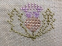 """Thistle Needleroll (pale colourway)"" by M Designs Started 26 Jan 2014"