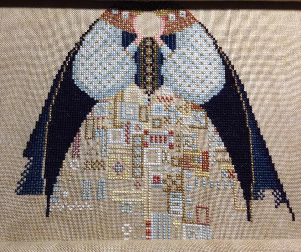 Angel of Love by Lavender & Lace after 30 hours of stitching
