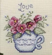 Teatime Stitchers SAL - Pansies