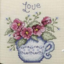 Teatime Stitchers SAL - Pansies