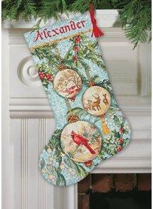 Dimensions - Enchanted Ornament Christmas Stocking