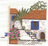 Mediterranean Village Scene