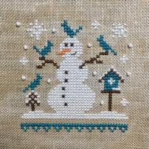 """Blue Snowman"" by The Little Stitcher"