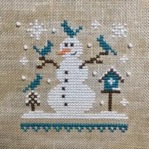 """Blue Snowman"" by The Little Stitcher"
