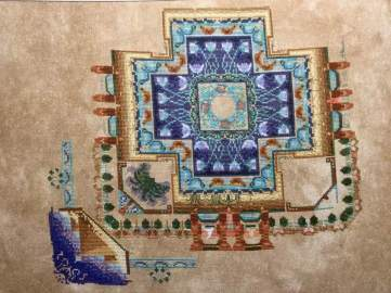 Egyptian Garden Mandala by Chatelaine